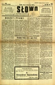 Słowo, 1929, R. 8, nr 77