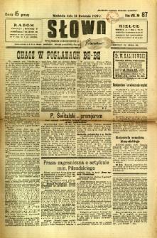 Słowo, 1929, R. 8, nr 87