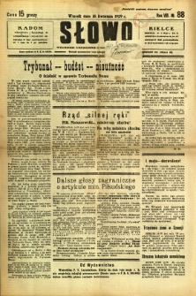 Słowo, 1929, R. 8, nr 88