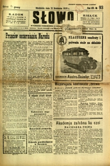 Słowo, 1929, R. 8, nr 93