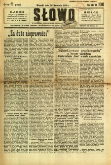 Słowo, 1929, R. 8, nr 100