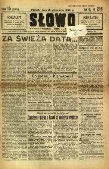 Słowo, 1930. R. 9, nr 216