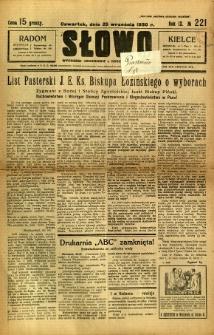 Słowo, 1930. R. 9, nr 221
