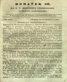 Dziennik Urzędowy Gubernii Radomskiej, 1845, nr 41, dod. III
