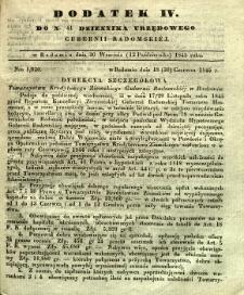 Dziennik Urzędowy Gubernii Radomskiej, 1845, nr 41, dod. IV