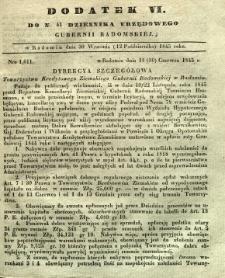 Dziennik Urzędowy Gubernii Radomskiej, 1845, 41, dod. VI