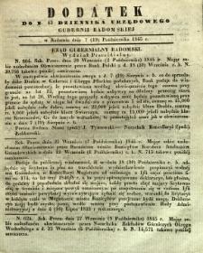 Dziennik Urzędowy Gubernii Radomskiej, 1845, nr 42, dod. I