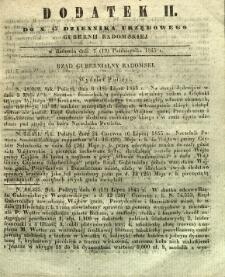 Dziennik Urzędowy Gubernii Radomskiej, 1845, nr 42, dod. II