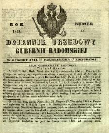 Dziennik Urzędowy Gubernii Radomskiej, 1845, nr 44