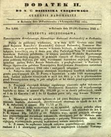 Dziennik Urzędowy Gubernii Radomskiej, 1845, nr 45, dod. II