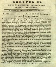 Dziennik Urzędowy Gubernii Radomskiej, 1845, nr 45, dod. III
