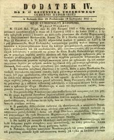 Dziennik Urzędowy Gubernii Radomskiej, 1845, nr 45, dod. IV