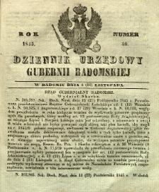 Dziennik Urzędowy Gubernii Radomskiej, 1845, nr 46