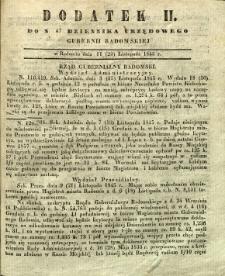 Dziennik Urzędowy Gubernii Radomskiej, 1845, nr 47, dod. II