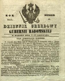 Dziennik Urzędowy Gubernii Radomskiej, 1845, nr 48