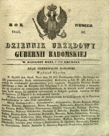 Dziennik Urzędowy Gubernii Radomskiej, 1845, nr 50