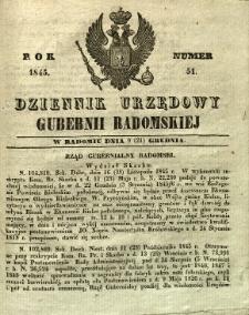 Dziennik Urzędowy Gubernii Radomskiej, 1845, nr 51
