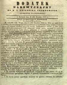 Dziennik Urzędowy Gubernii Radomskiej, 1845, nr 51, dod. nadzwyczajny