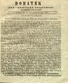 Dziennik Urzędowy Gubernii Radomskiej, 1846, nr 5, dod.