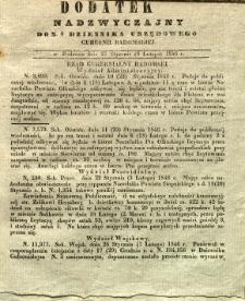 Dziennik Urzędowy Gubernii Radomskiej, 1846, nr 6, dod. nadzwyczajny