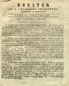 Dziennik Urzędowy Gubernii Radomskiej, 1846, nr 9, dod.