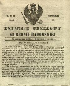 Dziennik Urzędowy Gubernii Radomskiej, 1846, nr 10