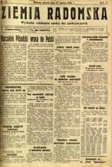 Ziemia Radomska, 1931, R. 4, nr 71