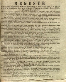 Regestr do Dziennika Urzędowego Gubernii Radomskiej za kwartał II. 1846 r. to jest: od N. 14 do N. 26 włącznie, czyli od d. 24 Marca (5 Kwiet.) do d. 16 (28) Czerw. 1846 r.
