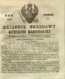 Dziennik Urzędowy Gubernii Radomskiej, 1846, nr 18