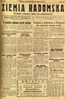 Ziemia Radomska, 1931, R. 4, nr 73