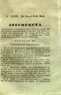 Dziennik Urzędowy Gubernii Radomskiej, 1846, nr 18, Instrukcya