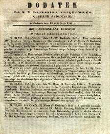 Dziennik Urzędowy Gubernii Radomskiej, 1846, nr 22, dod.