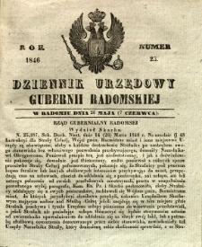 Dziennik Urzędowy Gubernii Radomskiej, 1846, nr 23