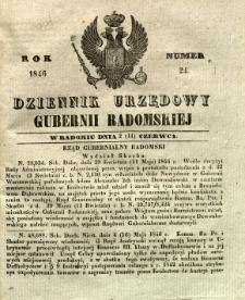Dziennik Urzędowy Gubernii Radomskiej, 1846, nr 24