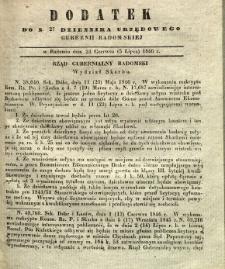 Dziennik Urzędowy Gubernii Radomskiej, 1846, nr 27, dod.