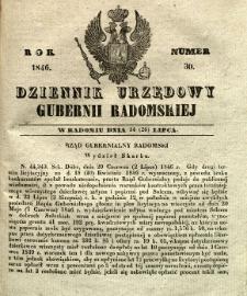 Dziennik Urzędowy Gubernii Radomskiej, 1846, nr 30