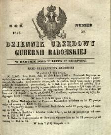 Dziennik Urzędowy Gubernii Radomskiej, 1846, nr 32