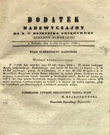 Dziennik Urzędowy Gubernii Radomskiej, 1846, nr 33, dod. nadzwyczajny