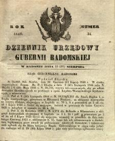 Dziennik Urzędowy Gubernii Radomskiej, 1846, nr 34