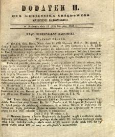 Dziennik Urzędowy Gubernii Radomskiej, 1846, nr 34, dod. II