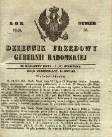 Dziennik Urzędowy Gubernii Radomskiej, 1846, nr 35