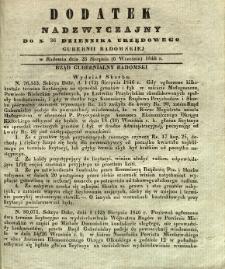 Dziennik Urzędowy Gubernii Radomskiej, 1846, nr 36, dod. nadzwyczajny