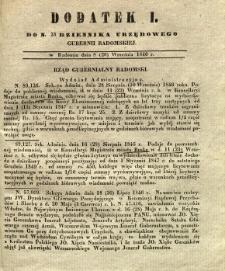 Dziennik Urzędowy Gubernii Radomskiej, 1846, nr 38, dod. I