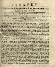 Dziennik Urzędowy Gubernii Radomskiej, 1846, nr 39, dod.