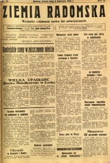Ziemia Radomska, 1931, R. 4, nr 78