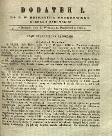 Dziennik Urzędowy Gubernii Radomskiej, 1846, nr 40, dod. I