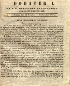 Dziennik Urzędowy Gubernii Radomskiej, 1846, nr 41, dod. I