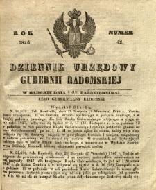 Dziennik Urzędowy Gubernii Radomskiej, 1846, nr 42