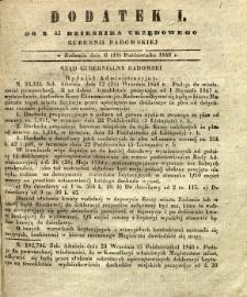 Dziennik Urzędowy Gubernii Radomskiej, 1846, nr 42, dod. I