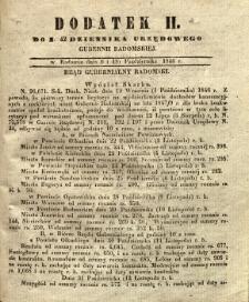 Dziennik Urzędowy Gubernii Radomskiej, 1846, nr 42, dod. II